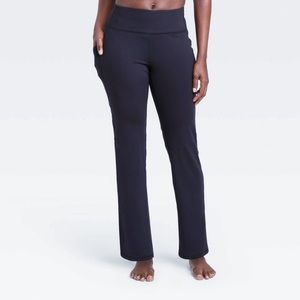 All In Motion Black Curvy Straight Leg Pants M Lng